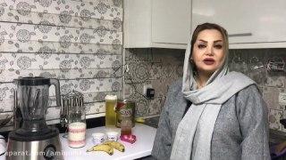 شیرموز بستنی خانگی همراه با خاله سیما