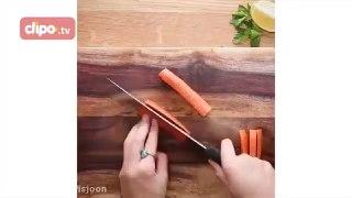 طرز تهیۀ هویج خلالی و پارمزان