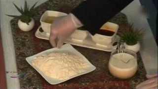 طریقه ی حلوای شیر عسلی
