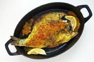 عکس ماهی در فر