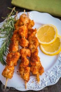 عکس کباب مرغ سوخاری با آبلیمو
