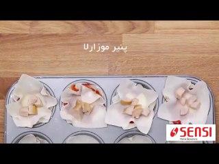 فیلم ی لقمه های پنیری کدو و سوسیس
