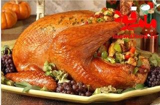مرغ شکم پر کباب شده