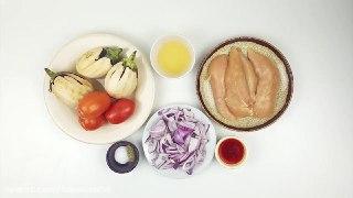 مسمای مرغ و بادمجان