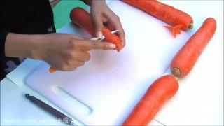 میوه آرایی آسان تزیین هویج به شکل گل