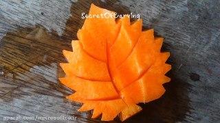 میوه آرایی برگ با هویج