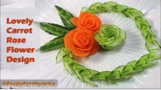 میوه آرایی طراحی قلب با خیار و هویج