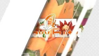 میوه آرایی طرح گل با خیار