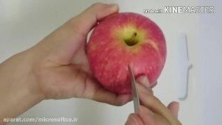 میوه آرایی طرح گل با سیب