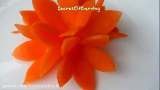 میوه آرایی طرح گل با هویج