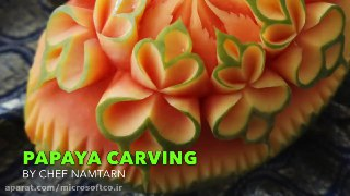 میوه آرایی طرح گل روی هندوانه
