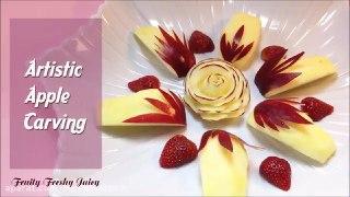 میوه آرایی هنر نمایی با سیب