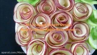 میوه آرایی چجوری با سیب سبد گل رز درست کنیم
