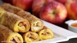 نان تست فرانسوی رول سیب