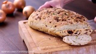 نان کاراملی با پیاز