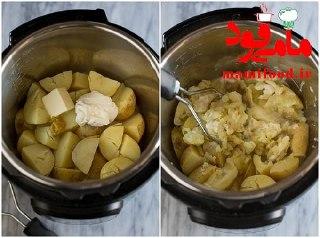 نان گوشت با پوره سیب زمینی