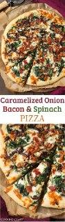 پیتزا گوشت و اسفناج