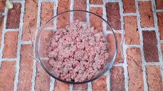 کباب گوشت و سیب زمینی داخل فر با پنیر پیتزا