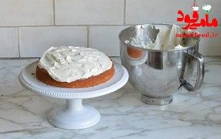 کیک تولد وانیلی