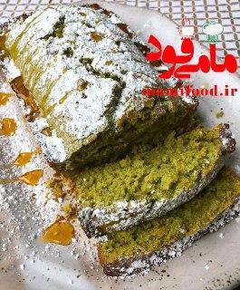 کیک شیفون با طعم چای سبز