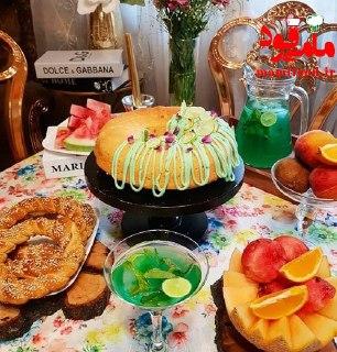 کیک لیمویی با فراستینگ لیمو