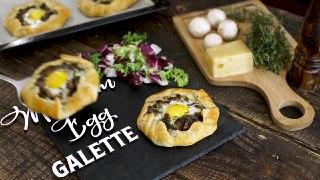 گالت تخم مرغ و قارچ غذای فرانسوی
