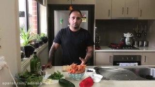 یک غذای خیلی سالم و مفید سالاد میگو مدیترانه ای