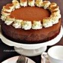 کیک شکلاتی با موز کیک شکلاتی سه لایه دسر شکلاتی سه لایه با موز
