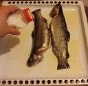 ماهی بریان با سبزیجات در فر