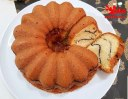 کیک موج دار وانیلی